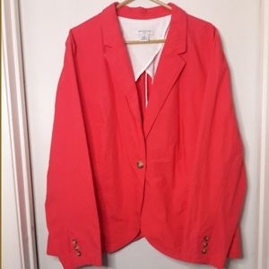 Coral Liz Claiborne Blazer w/pockets